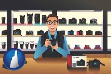 a camera shop - with New Hampshire icon