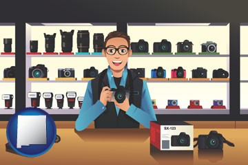 a camera shop - with New Mexico icon